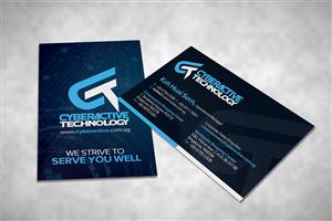 48 Modern Professional Information Technology Business Card ...