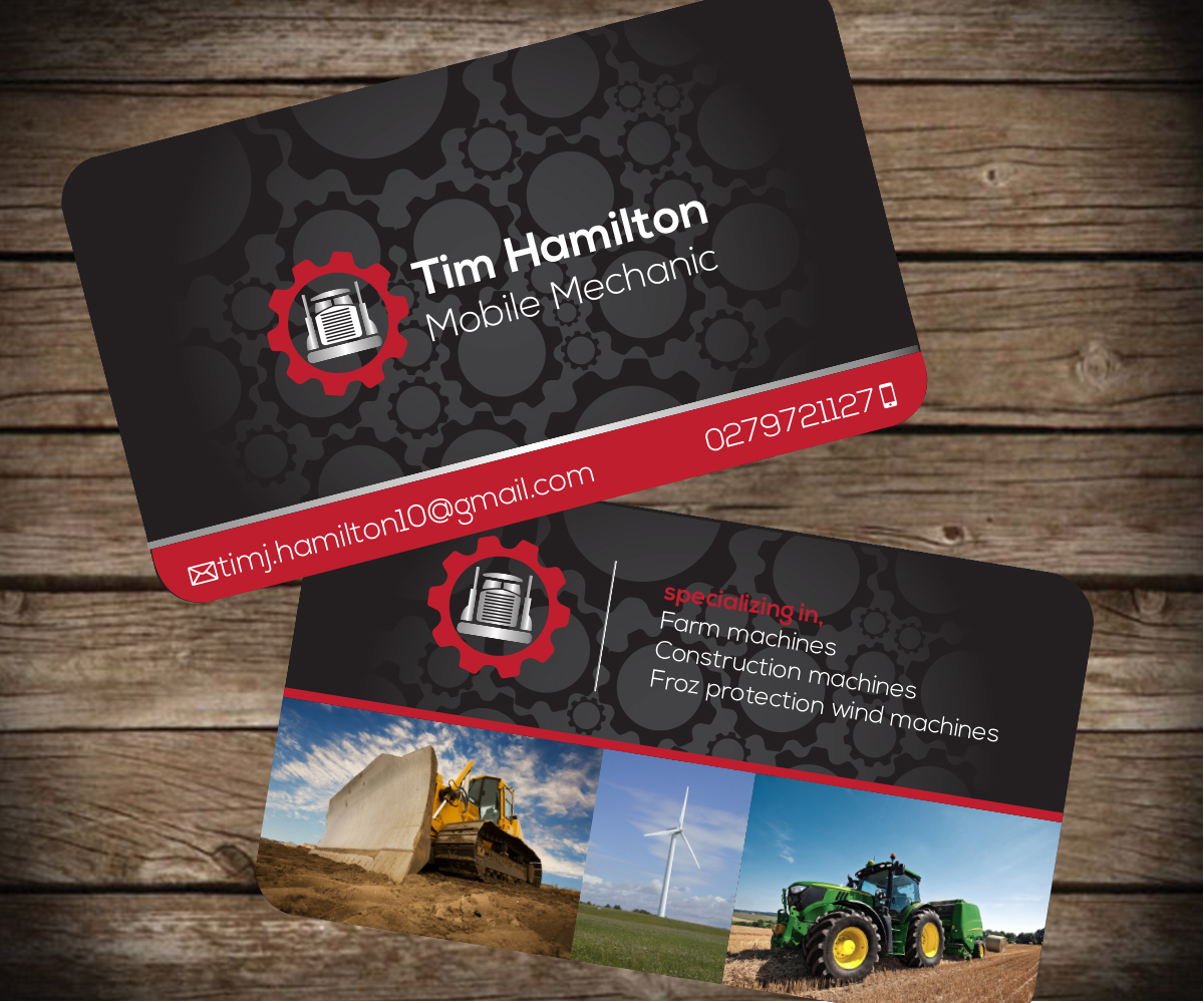 Business Card Design for Tim Hamilton by Aaron | Design #3371717