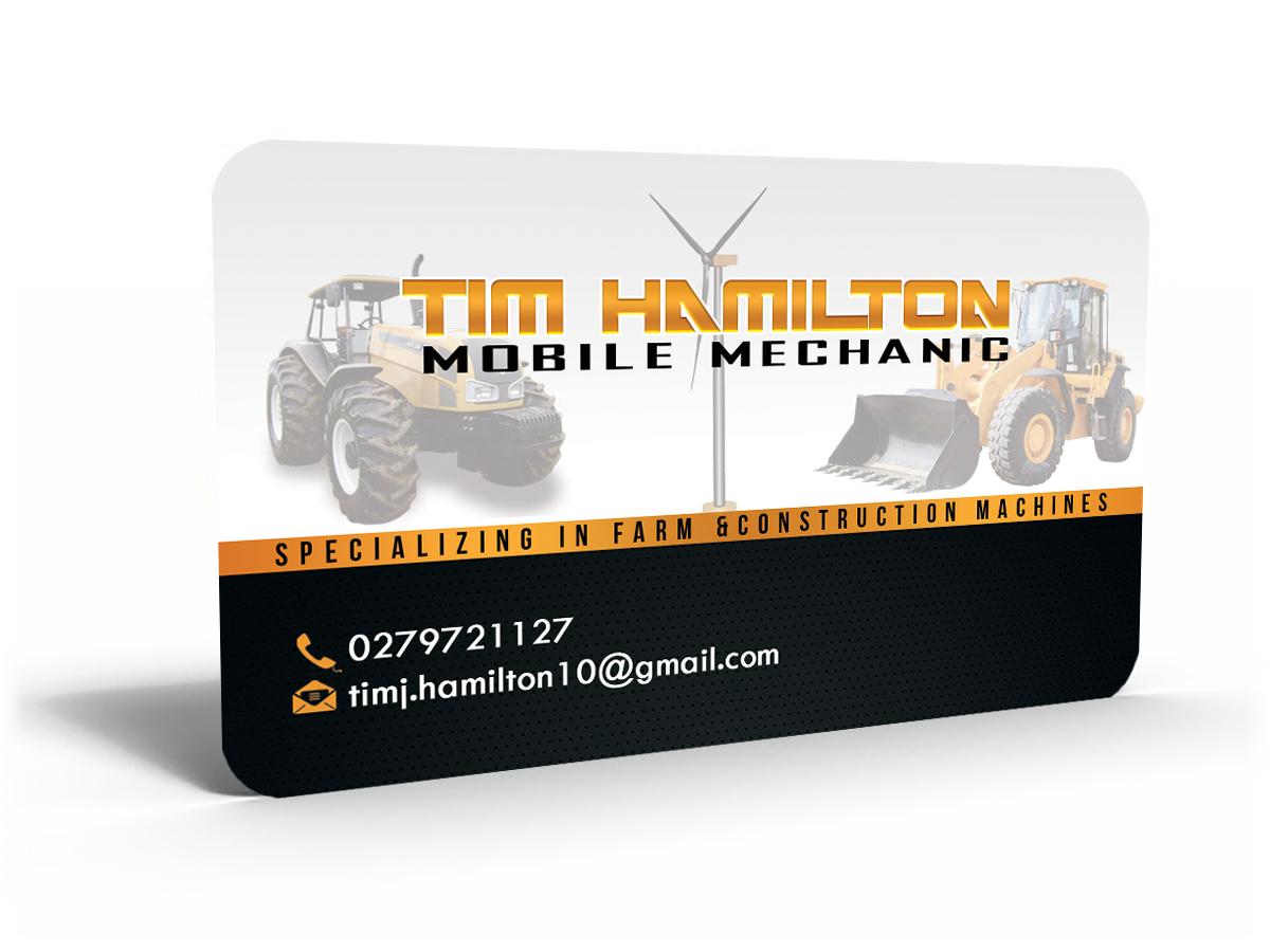 Mobile mechanics business card