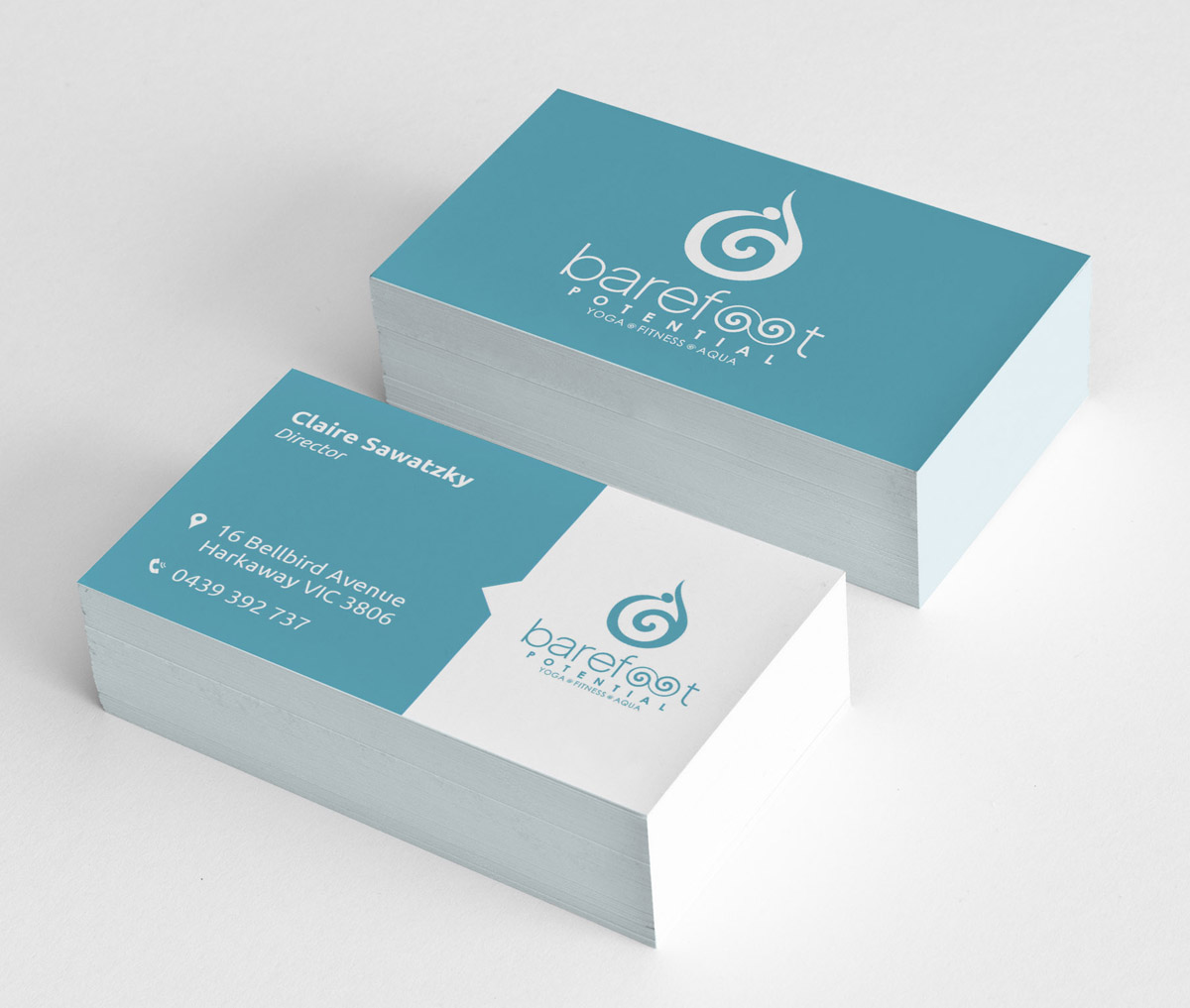 Modern, Playful, Business Business Card Design for Barefoot ...