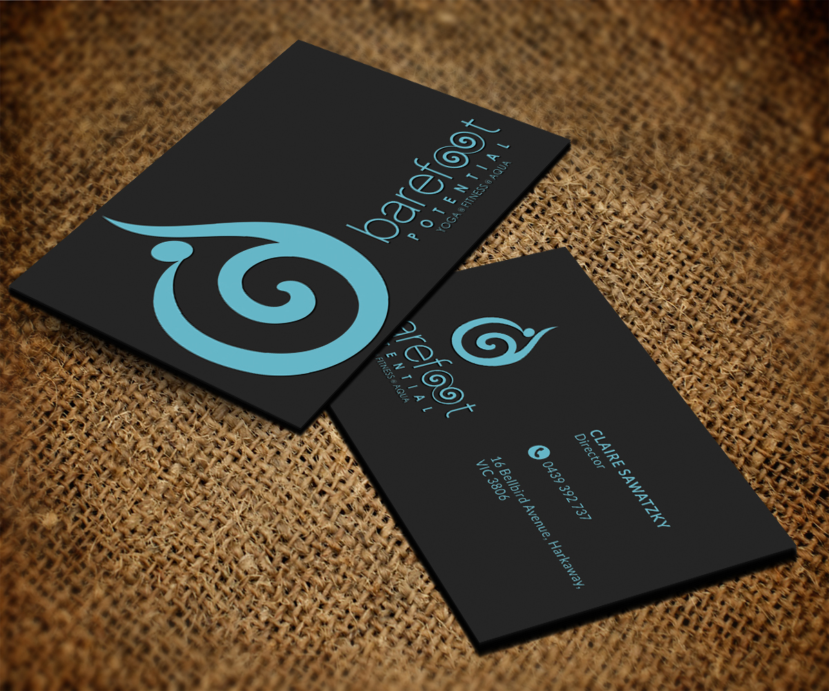 Modern Playful Business Business Card Design For Barefoot