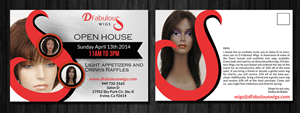 Postcard Design by ESolz Technologies - Event for Hair Salon Wigs