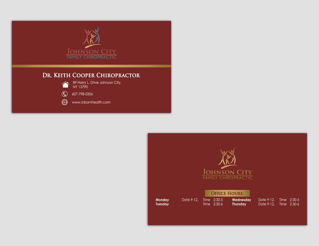 Serious, Modern, Business Business Card Design for Johnson City ...