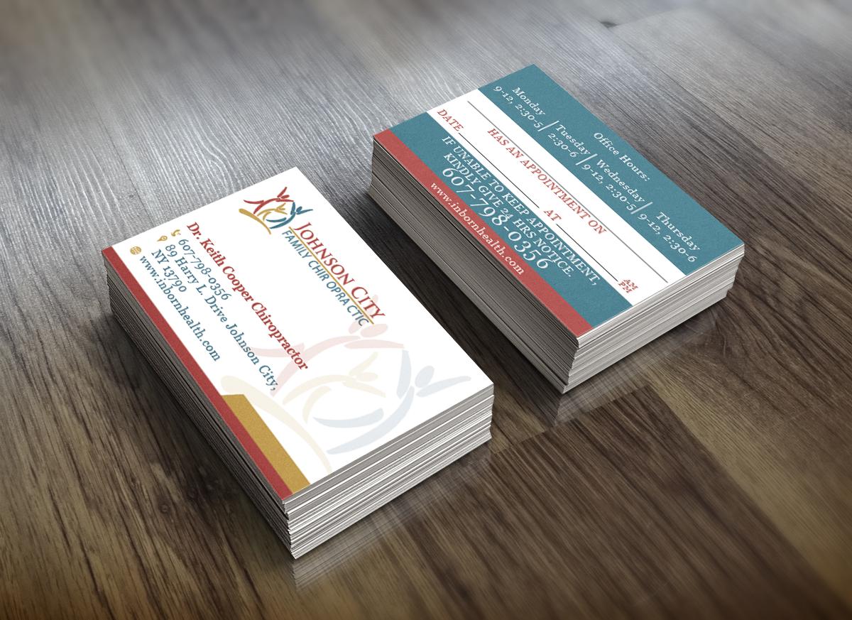 Serious, Modern Business Card Design for Johnson City Family ...