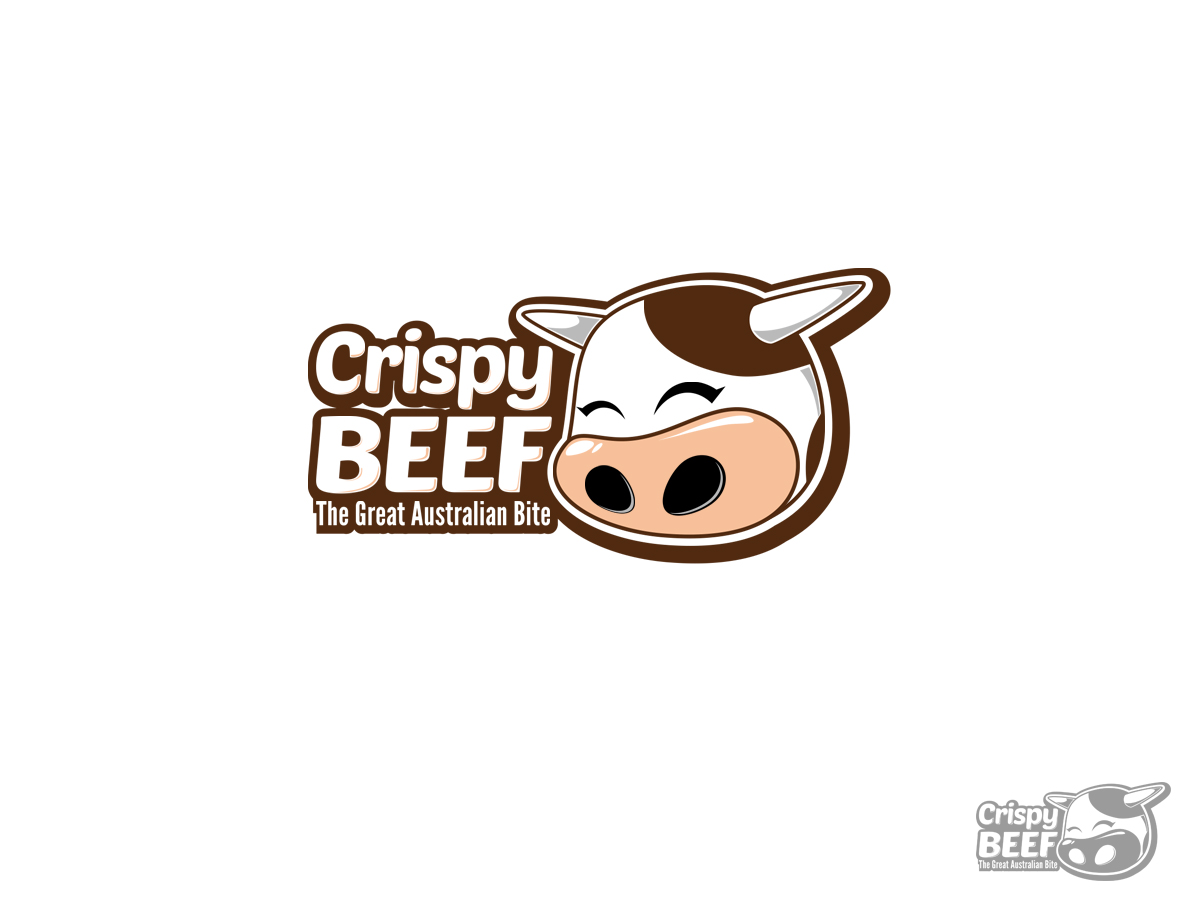logo design for crispy beef the great australian bite by lello design 3388435 logo design for crispy beef the great