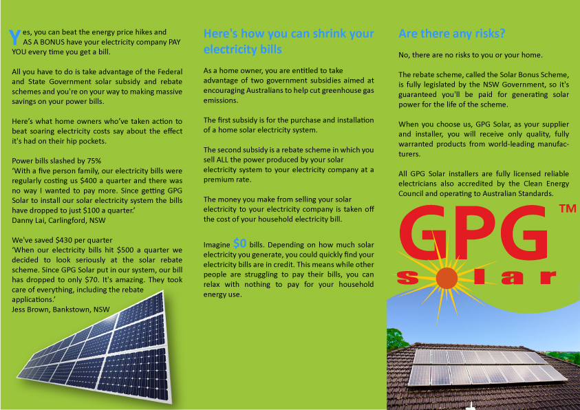 Serious, Colorful, It Company Flyer Design for GPG Solar by