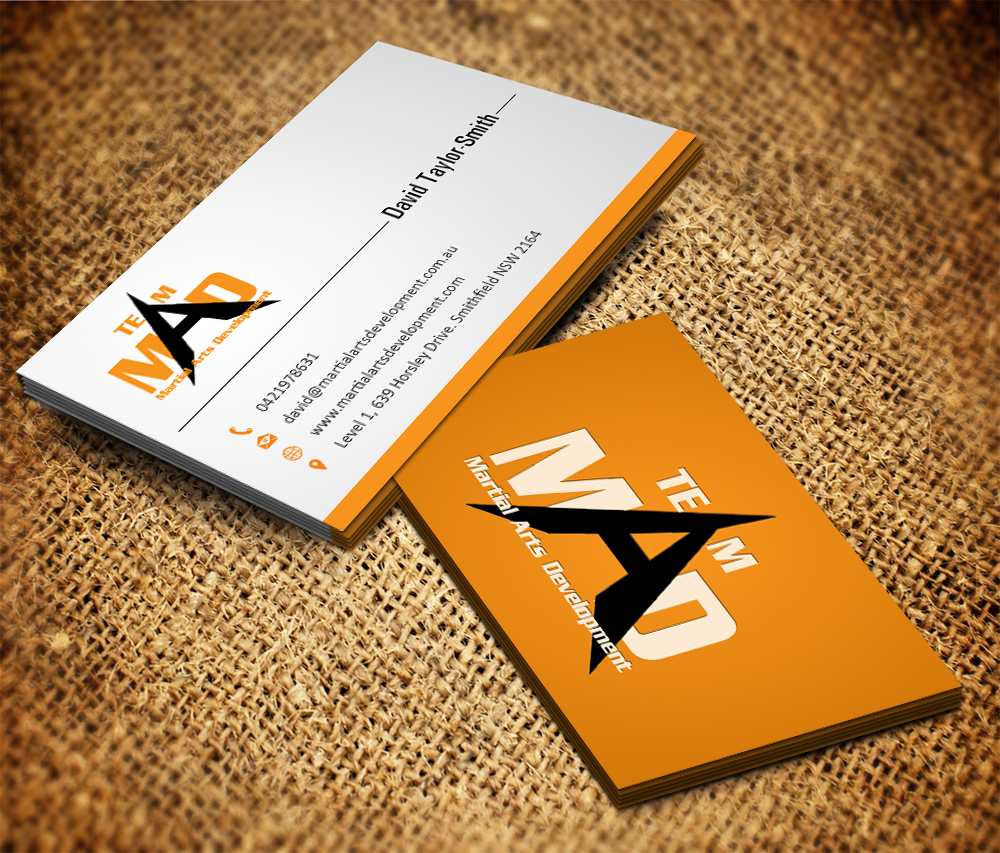 Bold, Serious Business Card Design for Martial Arts Development by ...
