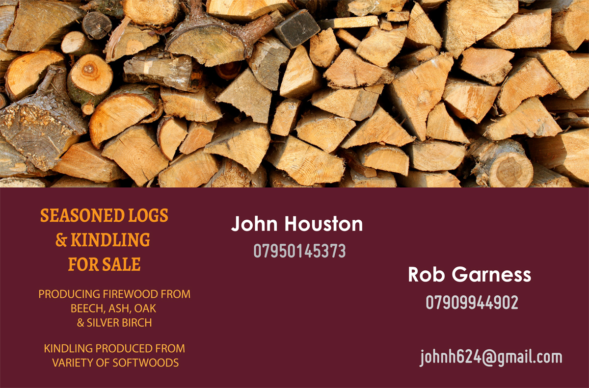 Firewood Business Card Design for a Company by Venus L. Penaflor ...