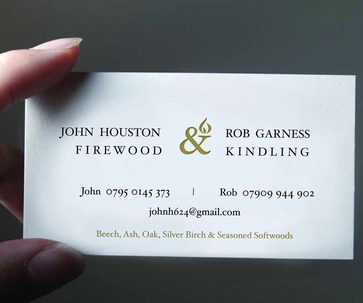 Firewood Business Card Design for a Company by devinedesign | Design ...