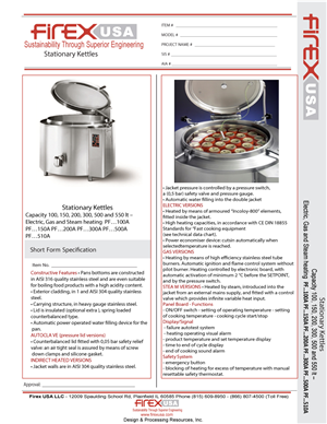 Brochure Design by Amenajari Tv - Firex USA Specification Sheet