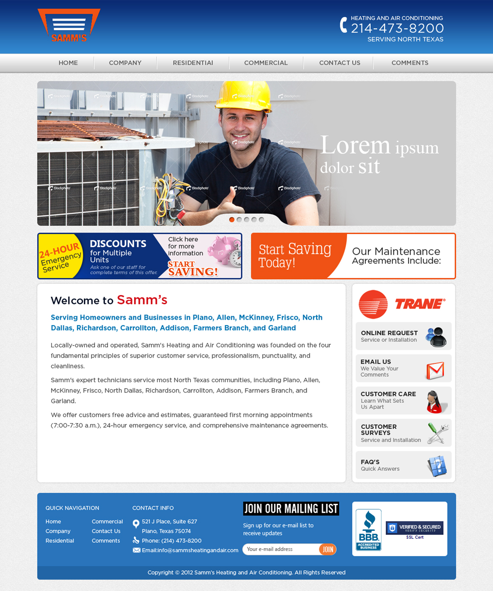 Serious modern air conditioning web design for atomic for Web design consultant