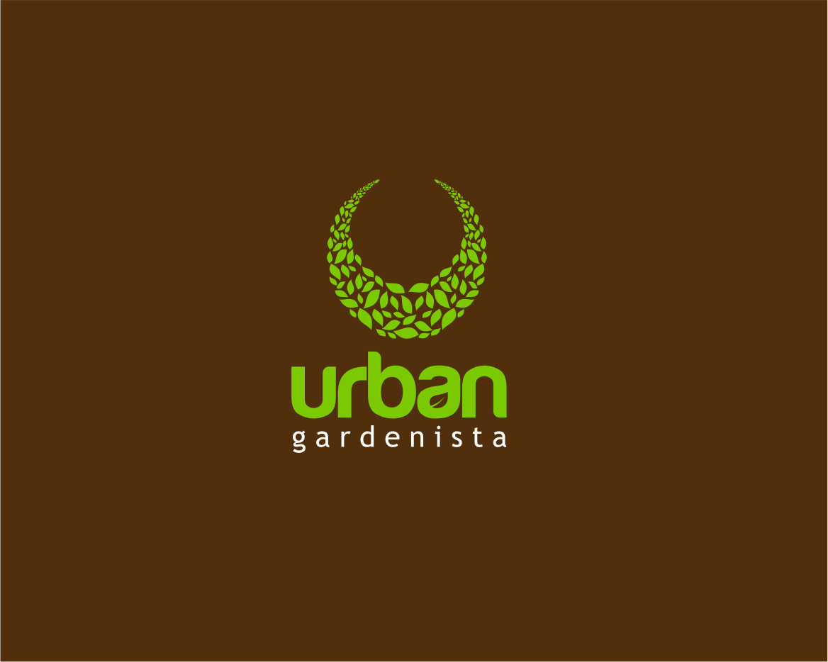 Unique Garden Design Logo Vignette - Brown Nature Garden ...