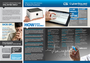 Brochure Design by Phobos - VMware View VDI Brochure Design for IT Company