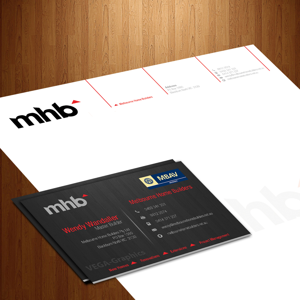 11 Stationery Designs   Building Stationery Design Project for a ...