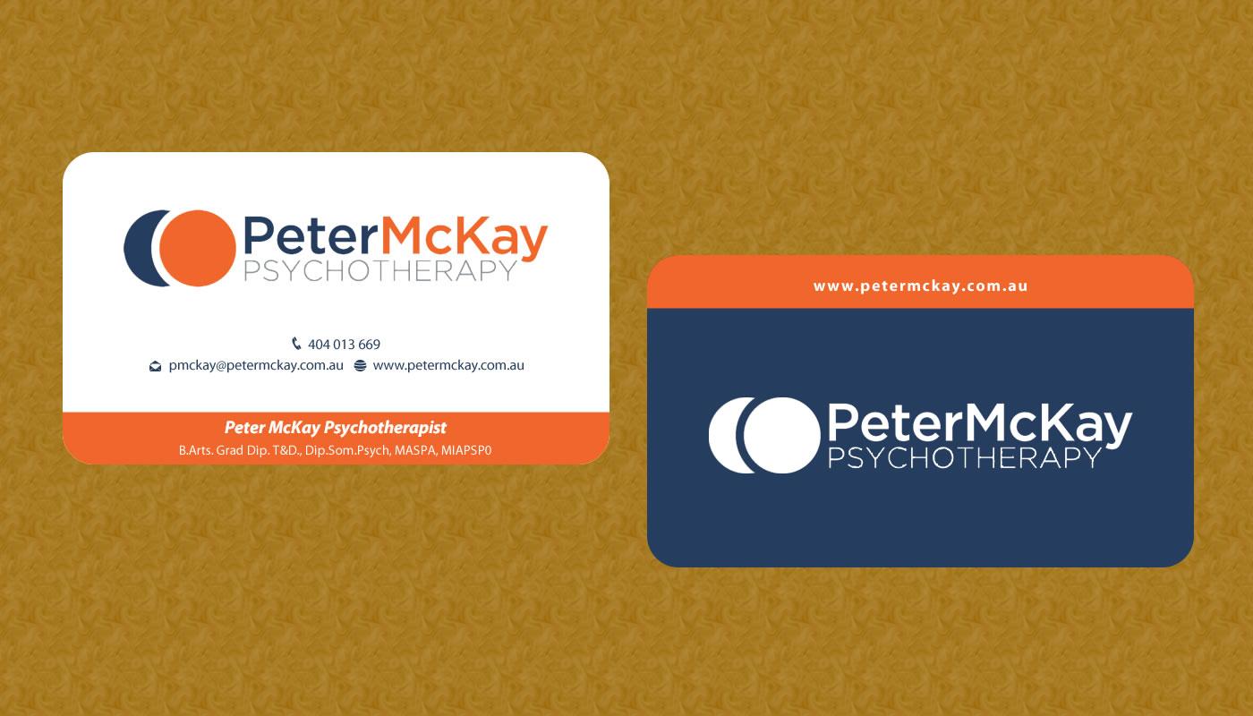 Elegant playful business card design for peter mckay by smart business card design by smart for peter mckay psychotherapy business card design project design magicingreecefo Gallery