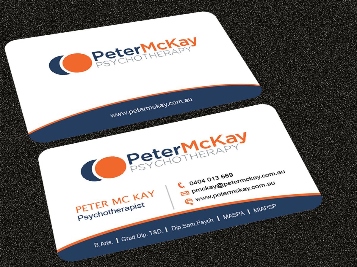 Elegant playful business card design for peter mckay by business card design by sarmishtha chattopadhyay for peter mckay psychotherapy business card design project design magicingreecefo Gallery