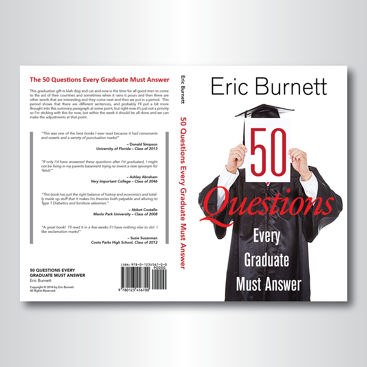 Book Cover Design Questionnaire : Bold modern book cover design for eric burnett by