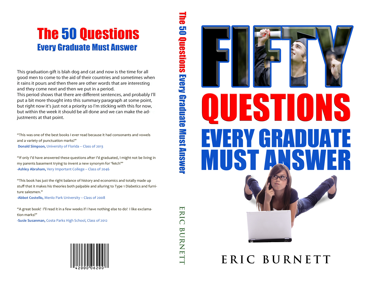 Book Cover Design Questions ~ Bold modern book cover design for eric burnett by