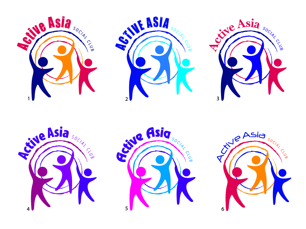Bold Modern Social Club Logo Design For Active Asia Social Club By Design Is Goodland Design 83990