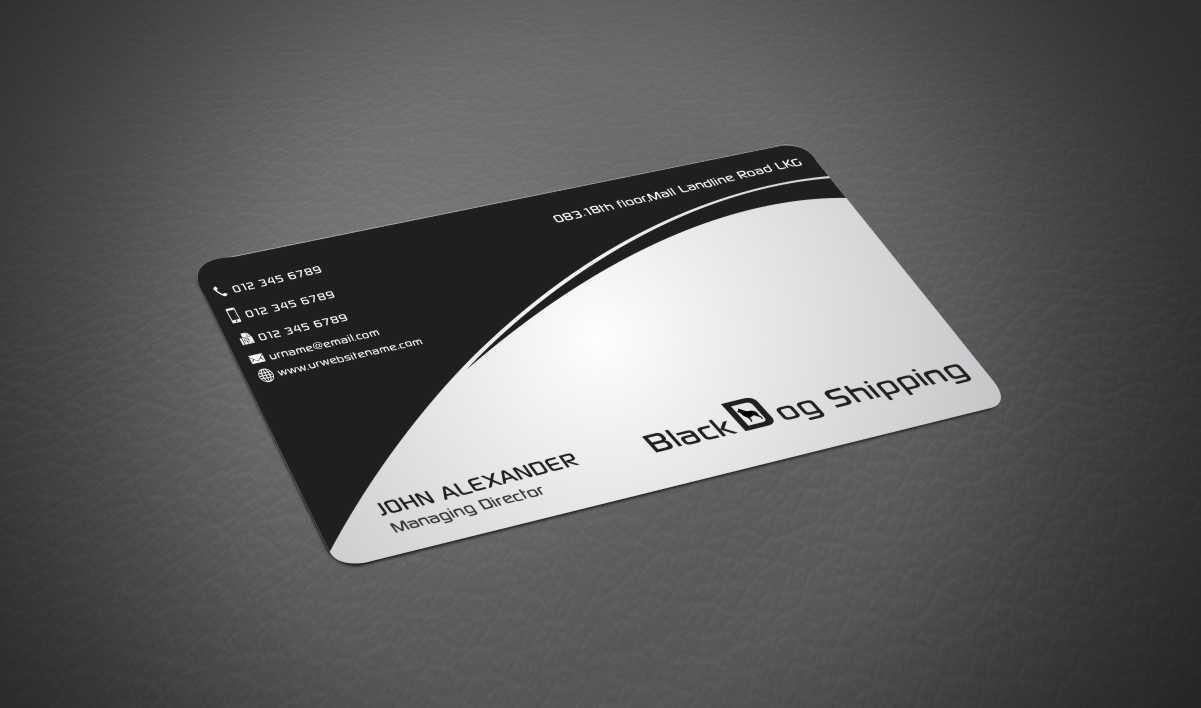 Playful professional business card design for black dog shipping business card design by xtremecreative45 for shipping cards design 3395231 magicingreecefo Gallery