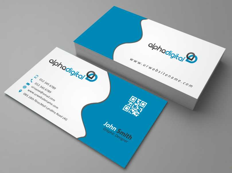 Elegant, Traditional Business Card Design for Alpha Digital by ...
