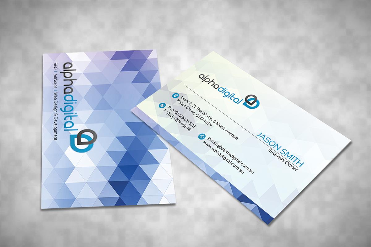 Elegant traditional digital business card design for alpha digital business card design by dirtyemm for alpha digital design 3411543 colourmoves