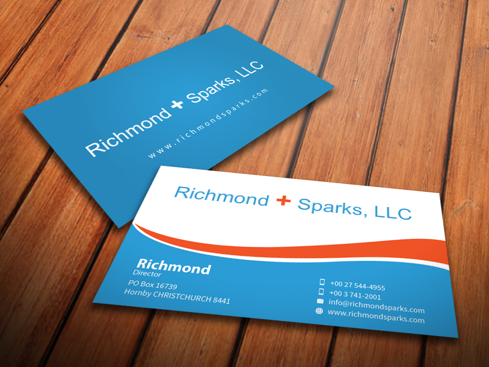 Playful, Modern Business Card Design for Richmond + Sparks by ...