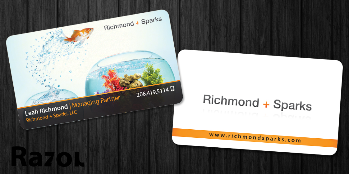 Playful, Modern, Business Business Card Design for Richmond + Sparks ...