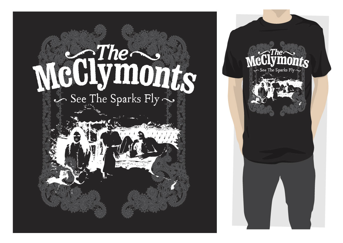 Shirt design new look - T Shirt Design By Reigedesign For The Mcclymonts Seek A New Look Tour