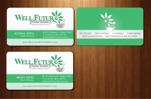 business card design by sbss for this project design 866589 - Pharmacy Business Cards