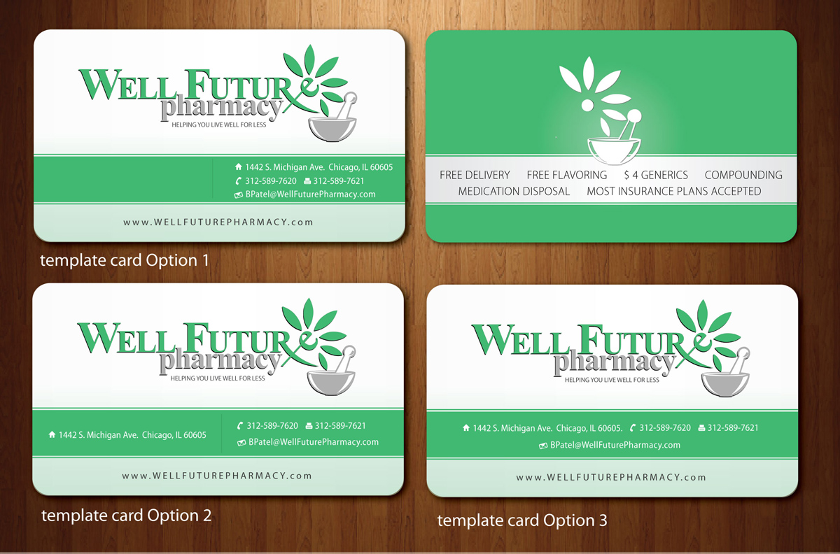 business card design by sbss for this project design 866593 - Pharmacy Business Cards