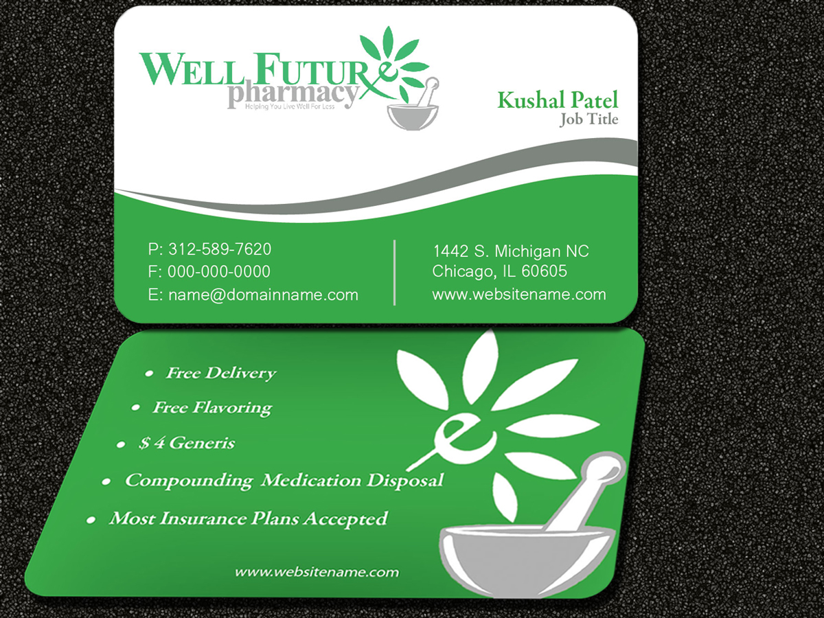 business card design by sarmishtha chattopadhyay for this project design 856581 - Pharmacy Business Cards
