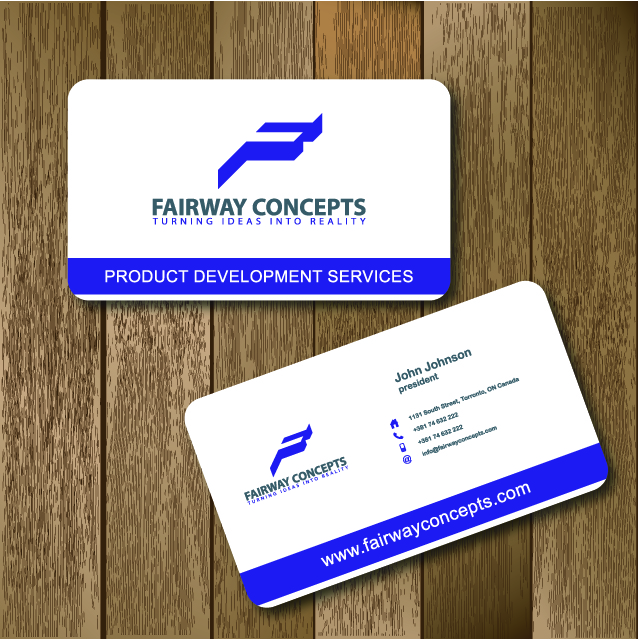 5 personable business card designs business business card design business card design by lakpar for fairway concepts llc design 852485 reheart Images