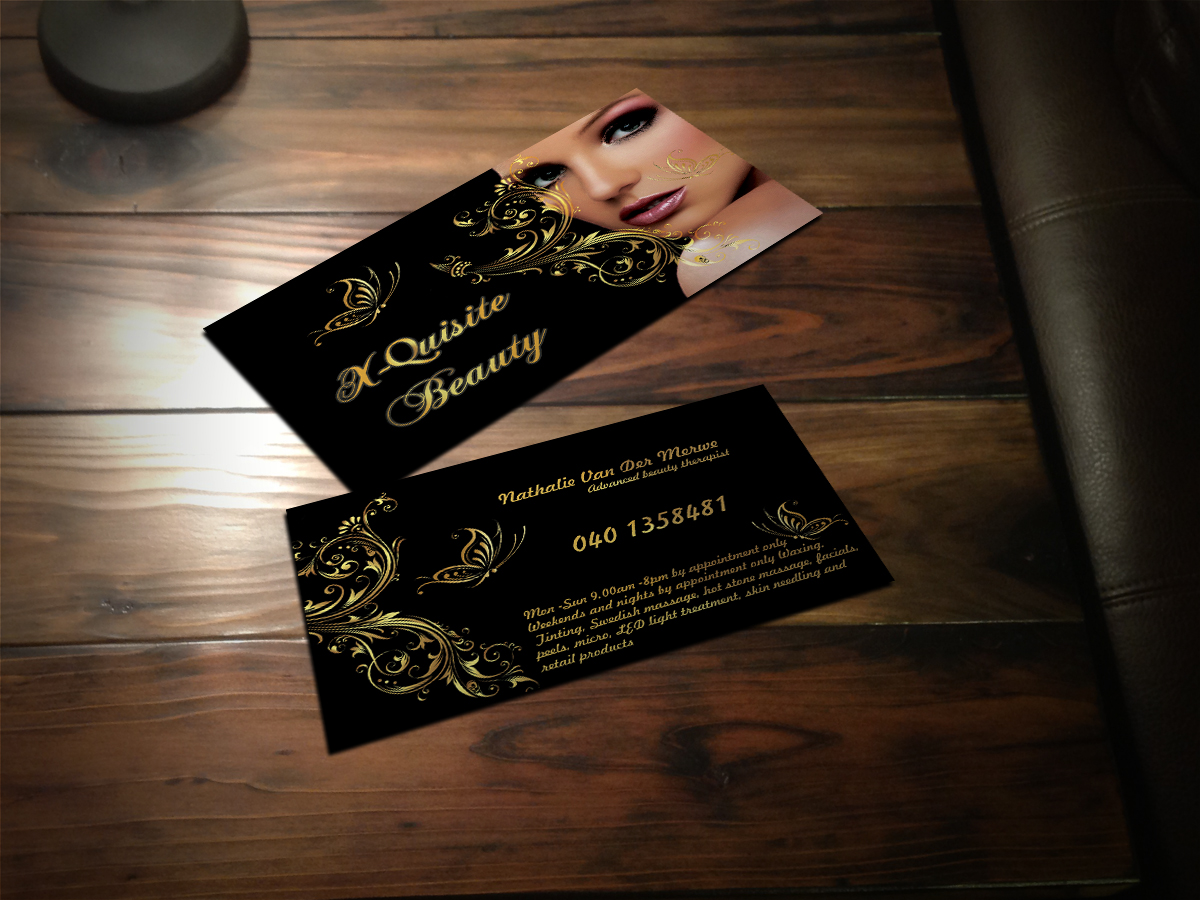 33 Modern Feminine Beauty Salon Business Card Designs For