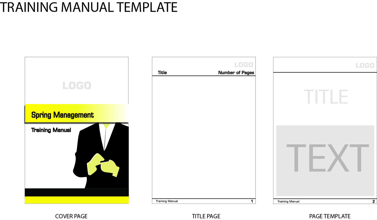 trainer manual template - training graphic design for jazz business consulting by