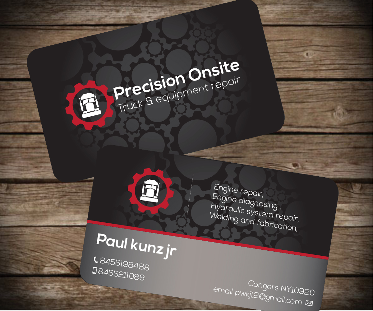 business card design by aaron for this project design 3429822 - Welding Business Cards