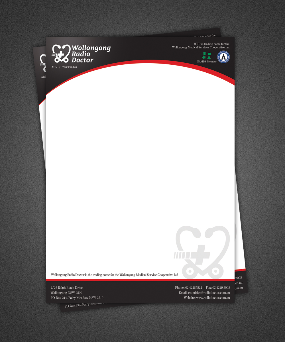 letterhead design by pixeleas for wollongong radio doctor design 3451736