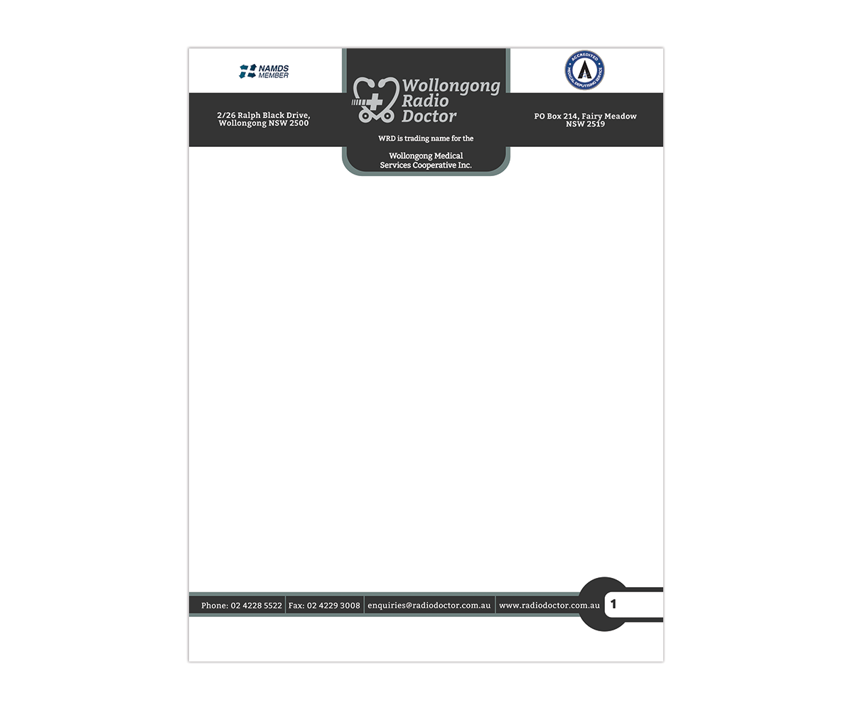 letterhead design by naranjoboy84 for wollongong radio doctor design 3461483