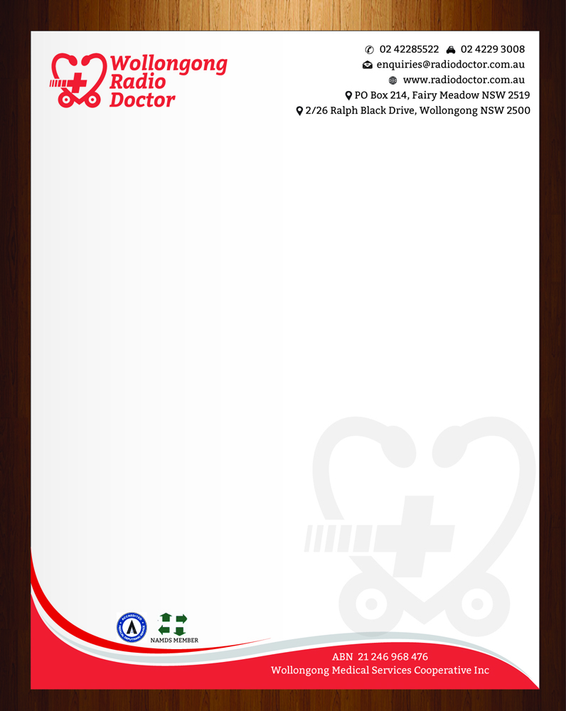 letterhead design by harmi_199 for wollongong radio doctor design 3461342