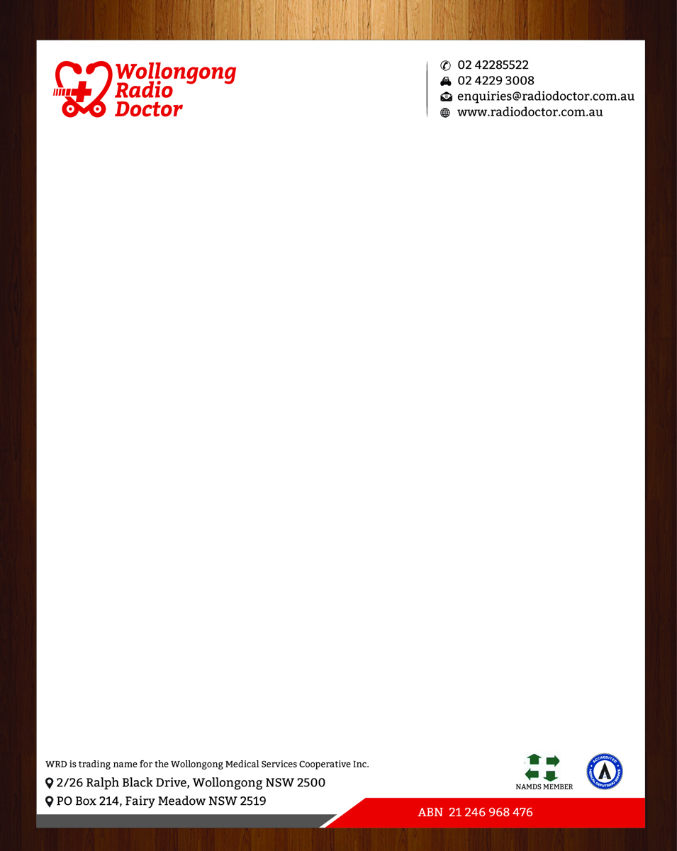 Letterhead Design For Wollongong Radio Doctor By Harmi 199