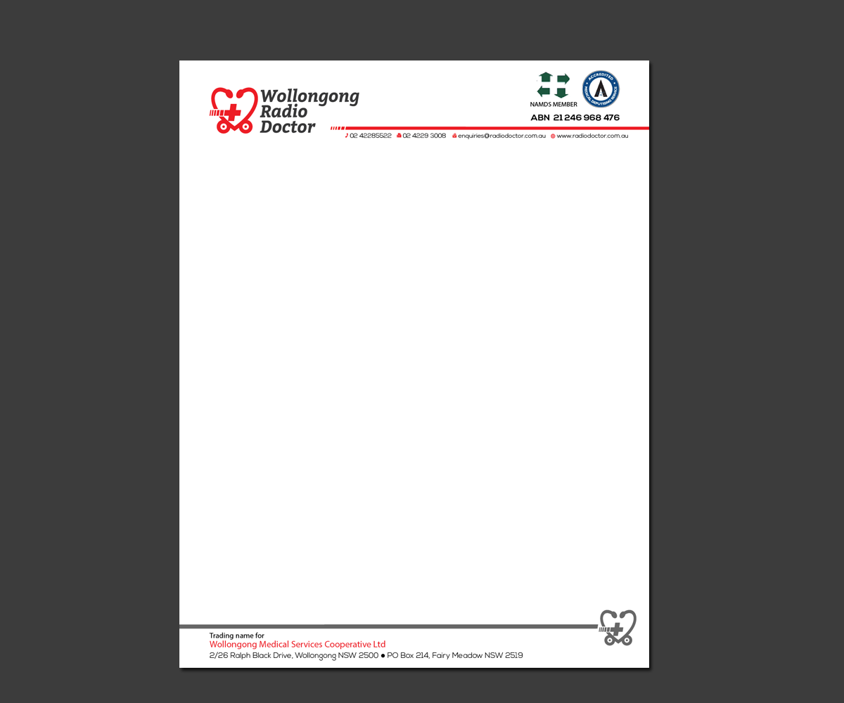 letterhead design by kousik for wollongong radio doctor design 3495048
