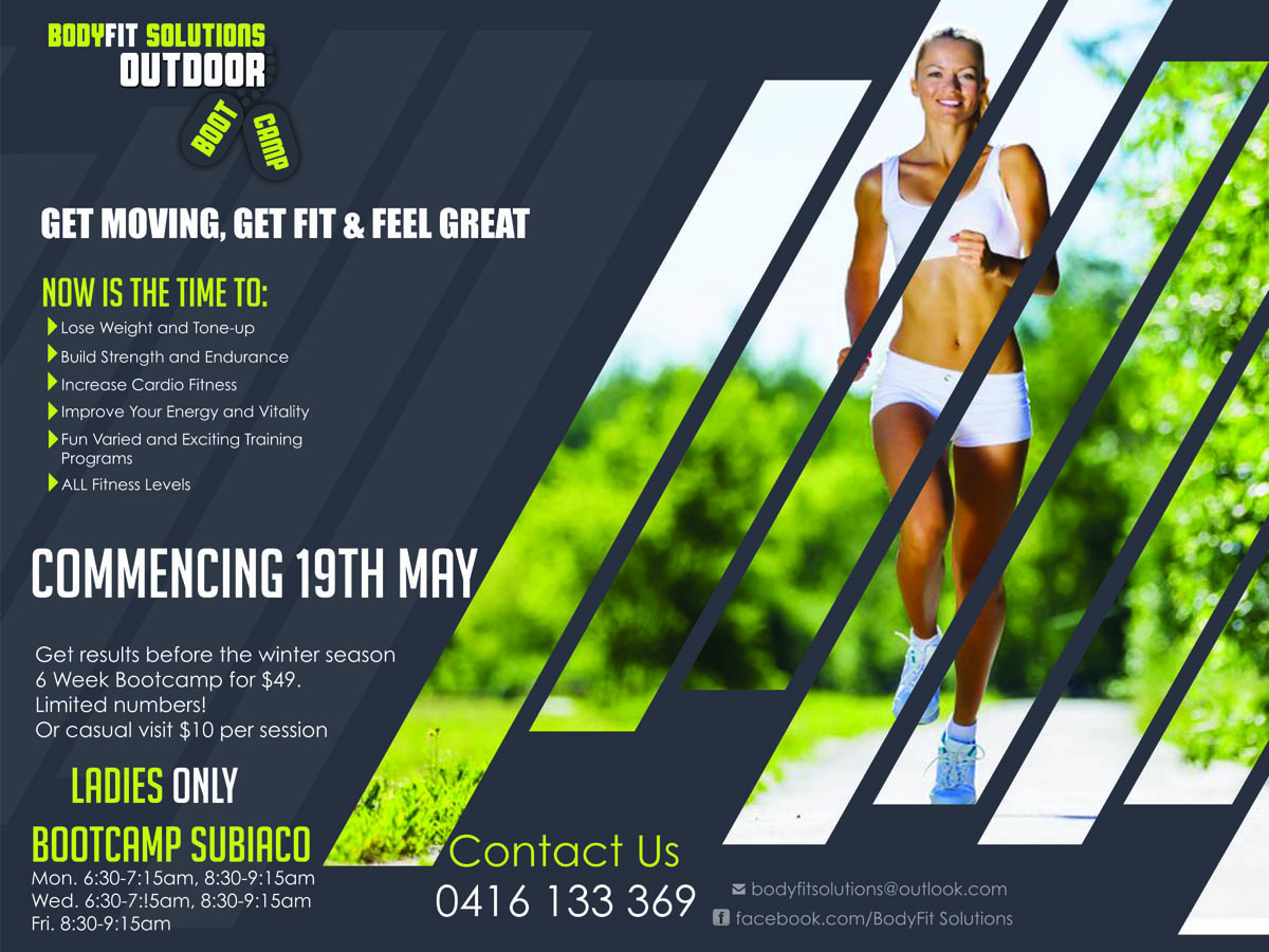 Bold serious flyer design for tonia lamond by lachoy g for Fitness brochure design