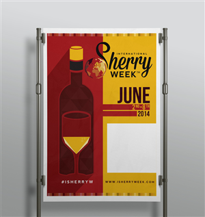 Poster Design by JTdsign - Vintage Style Poster for International Sherry W...