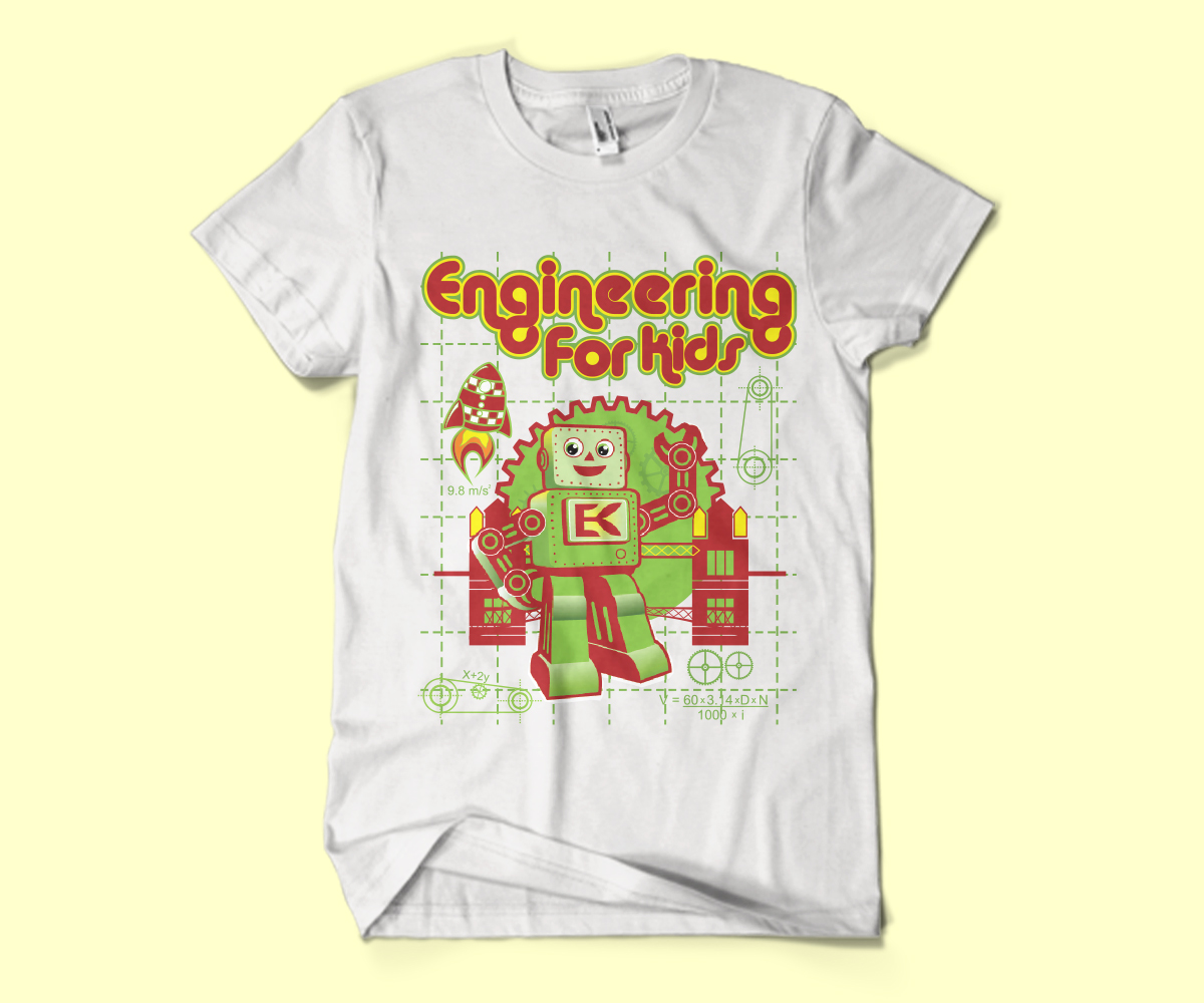 Club T Shirt Design For Engineering For Kids Inc By
