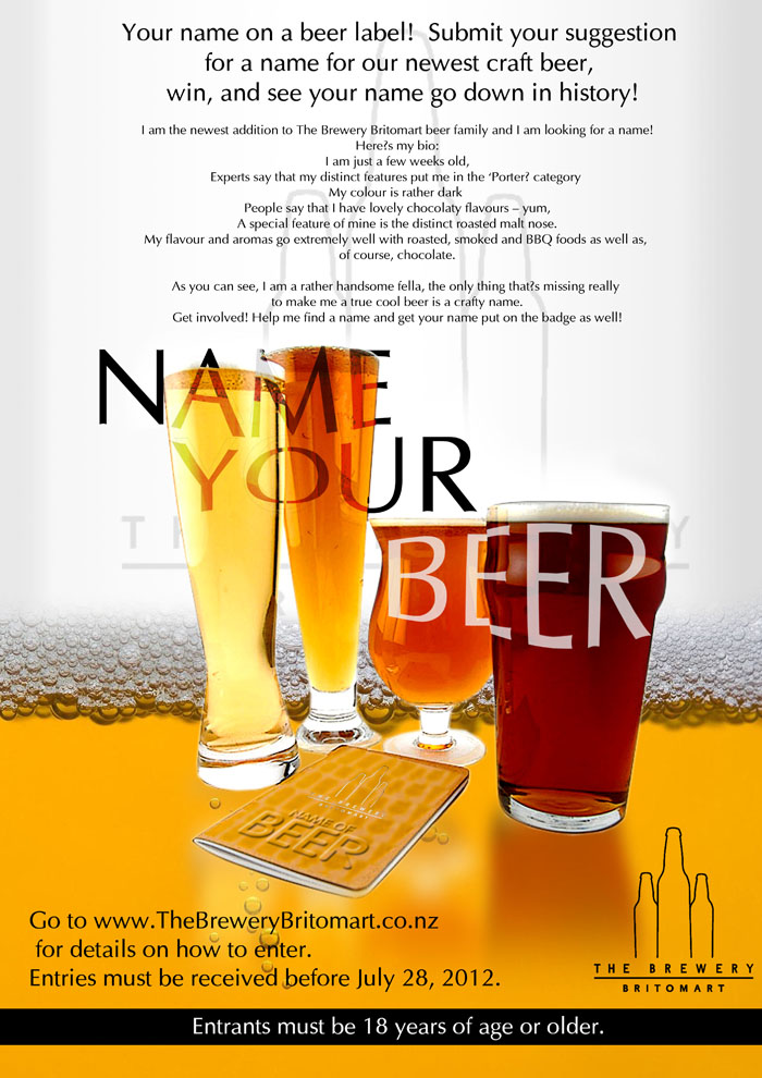 Bold Modern Brewery Poster Design For A Company In New Zealand