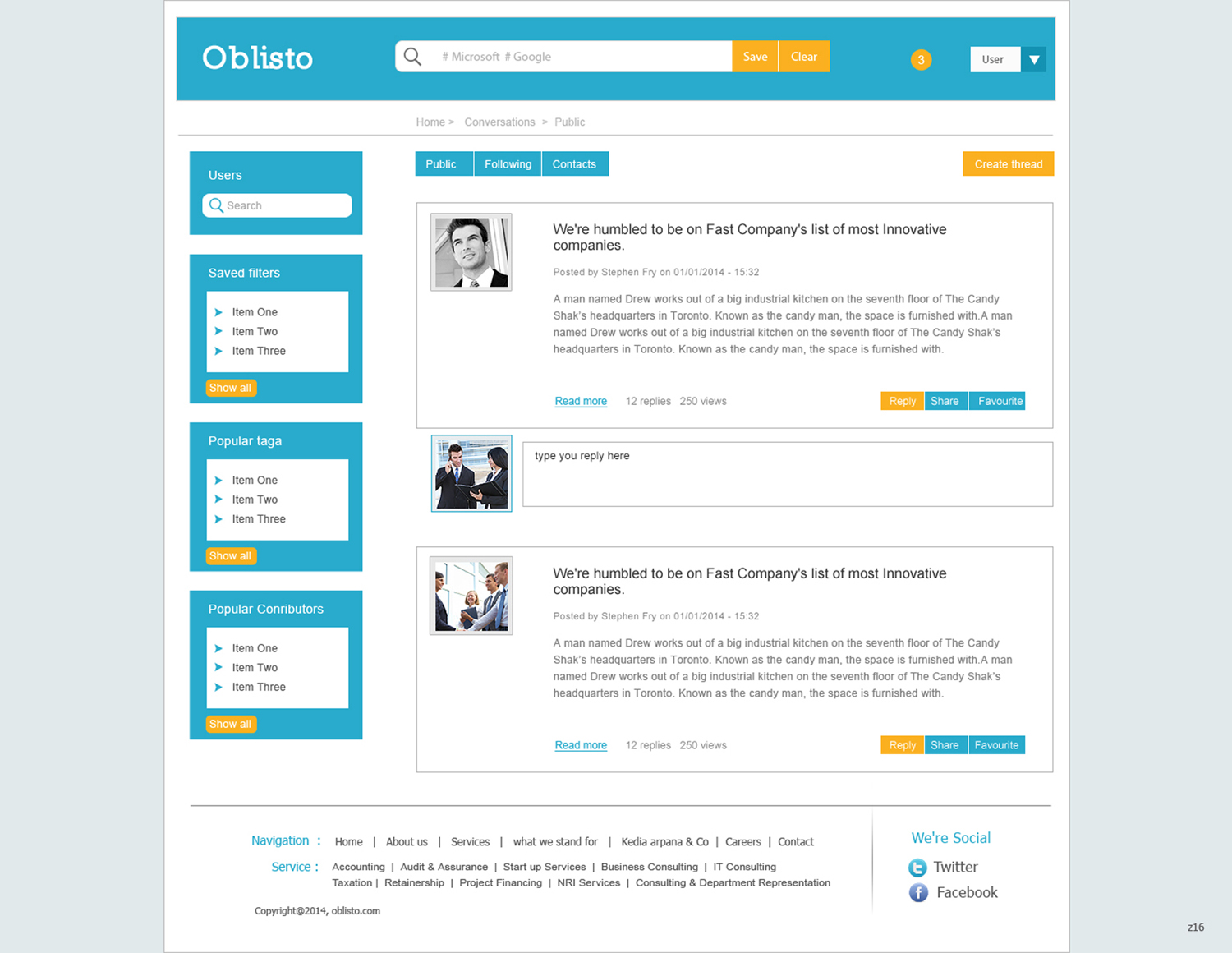 Masculine serious communication web design for a company for Masculine web design