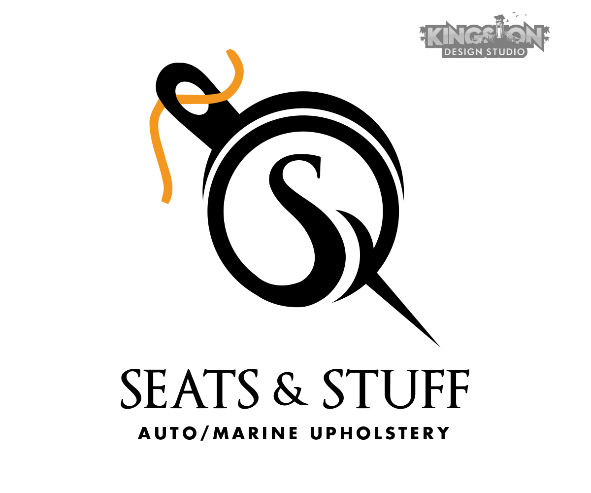 bold serious business logo design for seats stuff llc auto marine upholstery by andre swaby. Black Bedroom Furniture Sets. Home Design Ideas