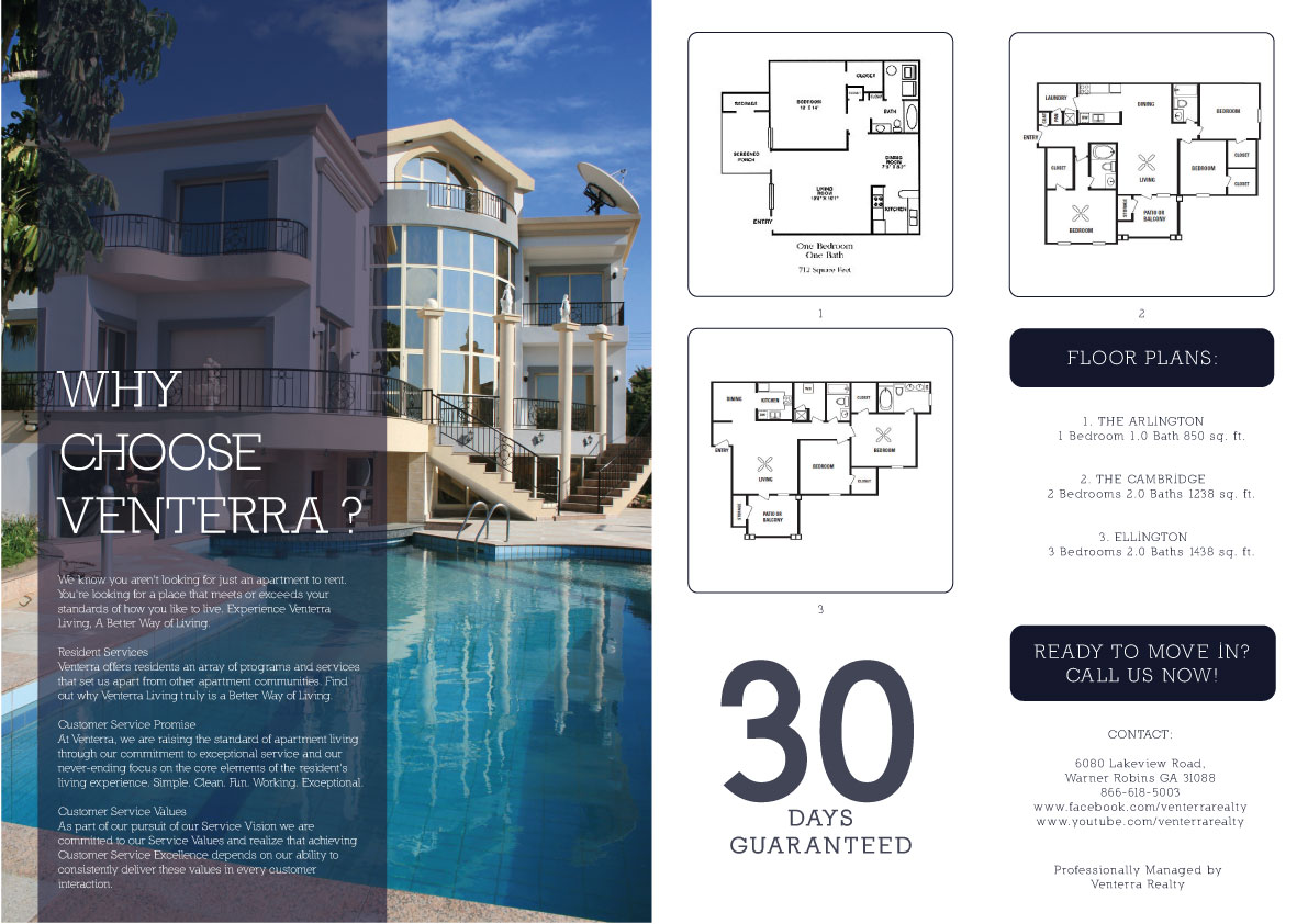 Professional serious apartment brochure design for for Apartment design and development ltd