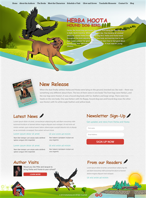 Web Design by LV2 - Web Site Design for new Children's Book Series