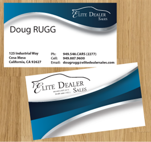 Business Card Design For Doug Rugg By Tedatkinson